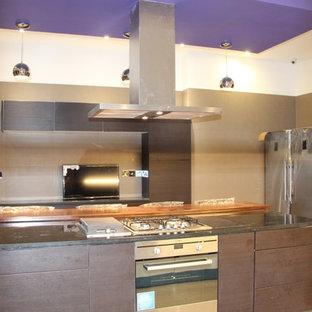Home design - large modern home design idea in Other