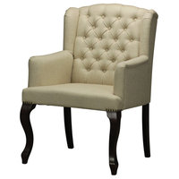 Linen Tufted Arm Chair