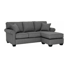 Apt2B - Lafayette Reversible Chaise Sofa Smoke - Sectional Sofas  sc 1 st  Houzz : sectional couch with cuddler - Sectionals, Sofas & Couches