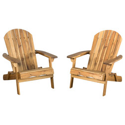 Farmhouse Adirondack Chairs by GDFStudio