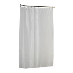 Lovely Extra Long (78u0027u0027) Polyester Fabric Shower Curtain Liner In White   Shower