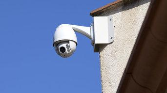 Exemple d'installation de caméras de vidéo-surveillance pour l'extérieur