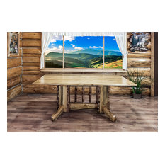 Glacier Country Collection Double Pedestal Dining Table