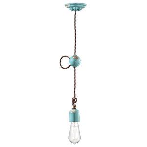 Cordone Ceiling Pendant, 1 Light, Blue