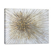 """Gold Spikes"" Hand Painted Canvas Art"