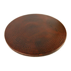 """Premier Copper Products LS18DB Lazy Susan 18"""" Hand Hammered Copper"""