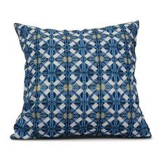 "Beach Tile, Geometric Print Outdoor Pillow, Blue, 16""x16"""