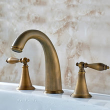 Antique brass taps