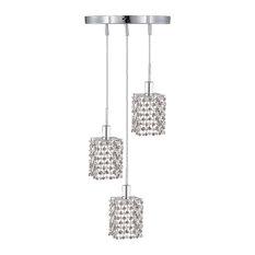 Elegant Lighting - 1283 Mini Collection Hanging Fixture Round Canopy,  Swarovski Spectra - Pendant Lighting