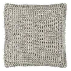 Haven Knit Pillow in Gray