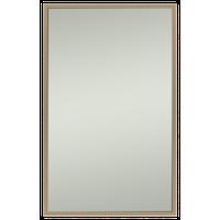 "Alan Rectangle Bathroom Mirror, Brass, 21""x32"""