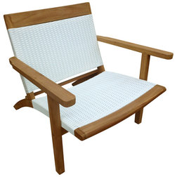 Tropical Outdoor Dining Chairs by Chic Teak