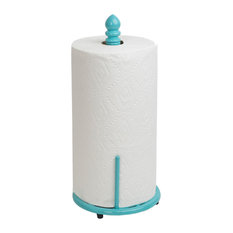 Lattice Collection Cast Iron Paper Towel Holder, Turquoise