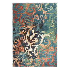"Orian Spoleto Nepal Scroll Area Rug, Multicolor, 6'7""x9'8"""
