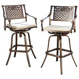 Traditional Outdoor Bar Stools And Counter Stools by GDFStudio