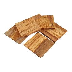 Olive Wood Coasters, Set of 6