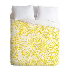 Deny Designs Lisa Argyropoulos Daisy Daisy In Golden Sunshine Duvet Cover - Ligh