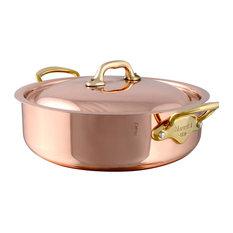 Mauviel M'Héritage Stockpot With Lid, Bronze Handles