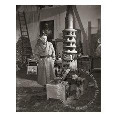 "Richard Ham ""Picasso in Paris Studio, Picasso With Dog"", Photograph"
