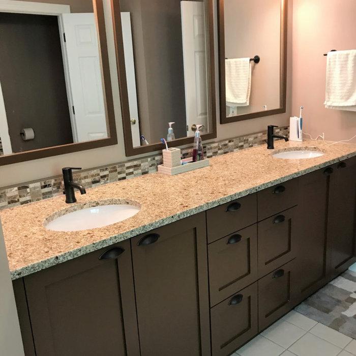 Custom Bathroom Double Vanity