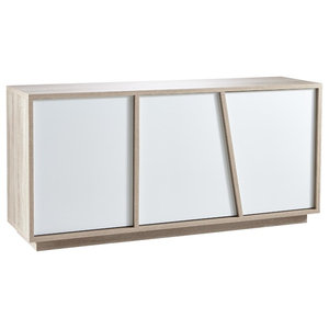 Nature Sideboard With White Doors