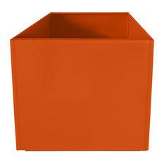 """Aluminum Planter, Orange, 20"""""""