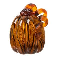 Tall Swirled Glass Pumpkin, Small