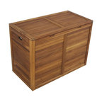 Teak Laundry Hamper, Double Size - From the Spa Collection