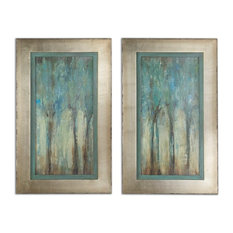 Uttermost Whispering Wind Framed Wall Art, Set of 2