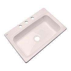 SolidCast - Clemente 3-Hole Kitchen Sink, Biscuit - Kitchen Sinks