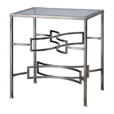 Uttermost 24635 Eilinora 26-inch X 24-inch Console Table - Silver