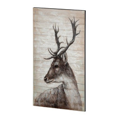 Wood Wall Art With Beige Finish 67716