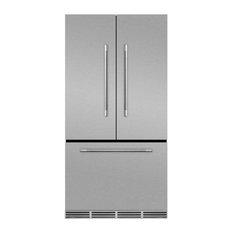 "36"" Marvel Mercury Series French Door Counter Depth Refrigerator, Stainless Stee"