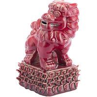 Zuo Food Ceramic Dog 2 Figurine, Red