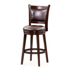Fairfield Counter Height & Bar Height Swivel Bar Stool Chair Dark Cherry 24-inch S