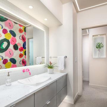 Colorful Condo Bath
