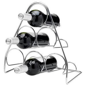 Hahn Pisa Chrome 6-Bottle Pyramid Wine Rack