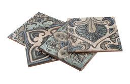 "7.88""x7.88"" Aureole Ceramic Wall Tile, Decor Mix, Set of 25"