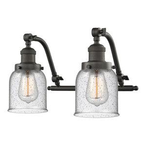 """Innovations Lighting 515-2W Small Bell Small Bell 2 Light 18"""" Wide Bathroom Van"""