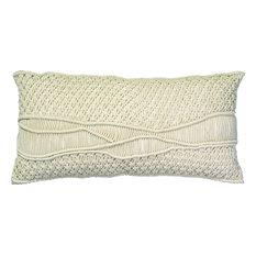 Indio Macrame Pillow, Cream Macrame