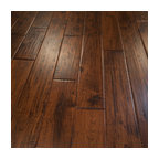 Hickory Hand Scraped Prefinished Solid Wood Floor, Canyon Crest, 1 Box