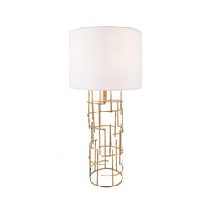 Handmade Modern Unique Gold Table Lamp, 29""