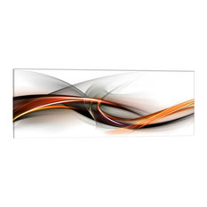 Abstract Warm Colours Glass Print, 125x50 cm