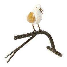 Swahili African Modern Songbird on Branch, Single