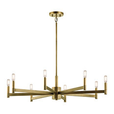 Kichler 43857NBR Erzo Chandelier 8-Light, Natural Brass