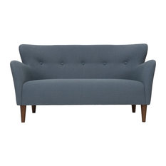 Iqrup Ritz Uk Peggy Wingback 2 Seater Sofa Dark Blue