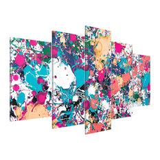 """Lake of Colours"" Acrylic Prints, 100x200 cm, Set of 5"