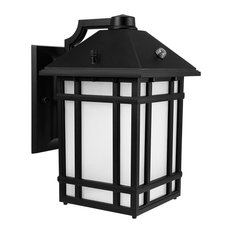 14W LED Outdoor Wall Mount Lantern Fixture With Dusk to Dawn Photocell