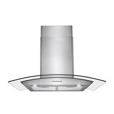 "AKDY Wall Mount Stainless Steel Button Panel Kitchen Range Hood Cooking Fan, 30"""