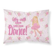 Ballet Long Blonde Hair Fabric Standard Pillowcase